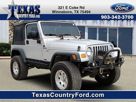 2003 Jeep Wrangler for sale in Winnsboro, TX