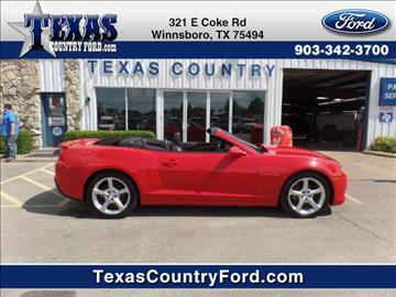 2015 Chevrolet Camaro for sale in Winnsboro, TX