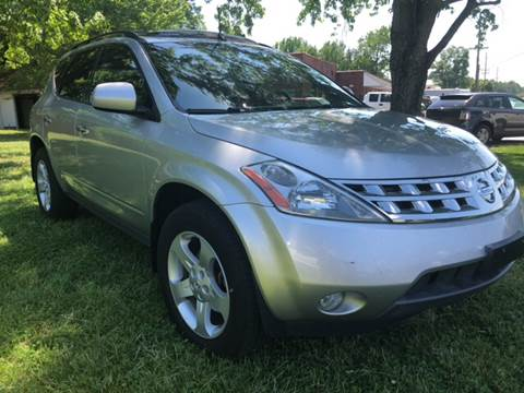 2004 Nissan Murano for sale at Creekside Automotive in Lexington NC