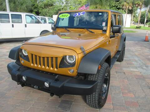 2014 Jeep Wrangler Unlimited for sale at Affordable Auto Motors in Jacksonville FL