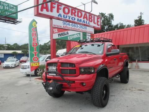 2003 Dodge Ram Pickup 2500 for sale at Affordable Auto Motors in Jacksonville FL