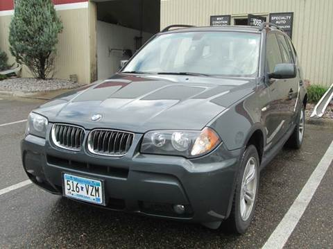 2006 BMW X3 for sale at Specialty Auto Wholesalers Inc in Eden Prairie MN