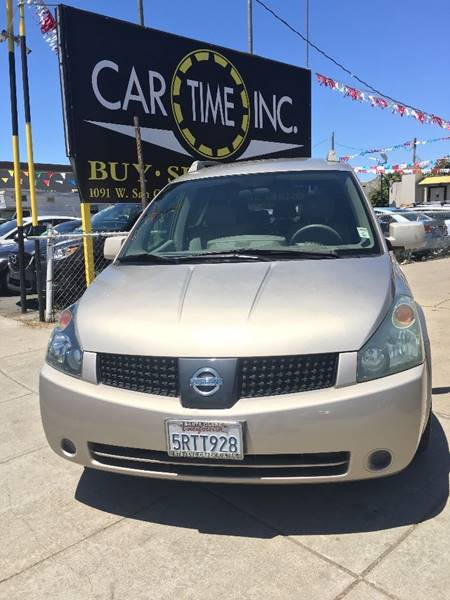 2005 NISSAN QUEST 35 S 4DR MINI VAN gold front air conditioning front air conditioning - automa