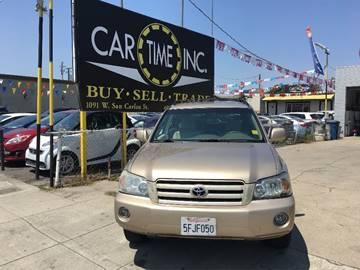 2004 Toyota Highlander for sale at Car Time Inc in San Jose CA