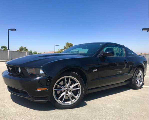 2012 FORD MUSTANG GT PREMIUM 2DR FASTBACK black 18 in polished aluminum wheels 19 inch bright m