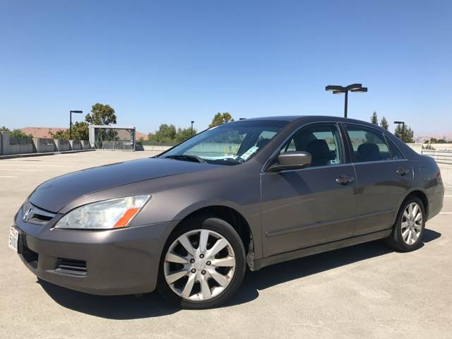 2006 HONDA ACCORD EX V 6 WNAVI 4DR SEDAN 5A gray abs - 4-wheel air filtration airbag deactivat