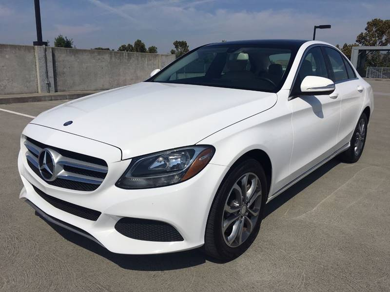 2015 MERCEDES-BENZ C-CLASS C 300 4MATIC AWD 4DR SEDAN white 2-stage unlocking doors 4wd type - f