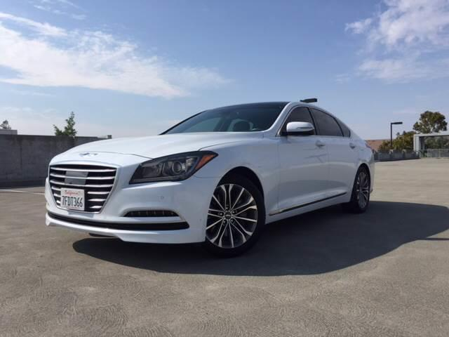 2015 HYUNDAI GENESIS 38L 4DR SEDAN white exhaust - dual tip door handle color - body-color with