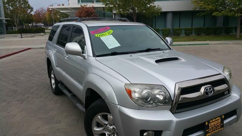2006 TOYOTA 4RUNNER SPORT EDITION 4DR SUV WV8 silver air conditioning alarm system alloy wheel