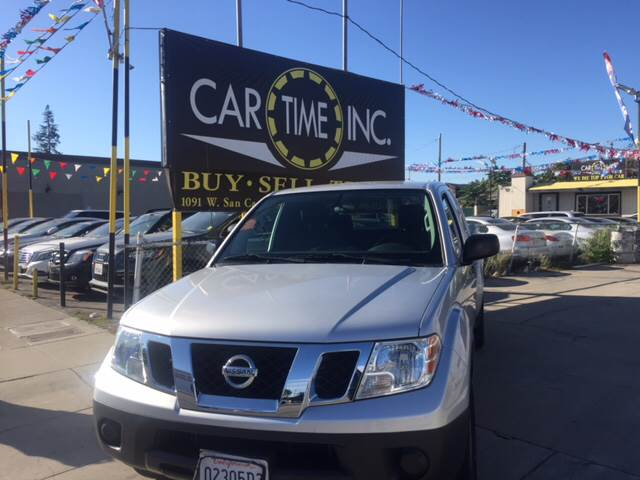 2014 NISSAN FRONTIER SV 4X2 4DR KING CAB 61 FT SB P silver 2-stage unlocking doors abs - 4-whe