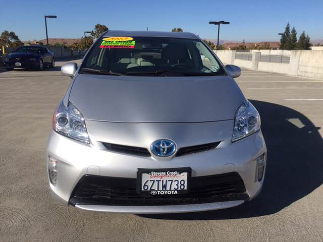 2013 TOYOTA PRIUS FOUR 4DR HATCHBACK silver 2-stage unlocking doors abs - 4-wheel active head r