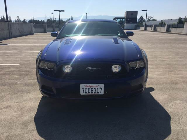 2014 FORD MUSTANG GT PREMIUM 2DR FASTBACK blue 18 in polished aluminum wheels 19 inch bright ma