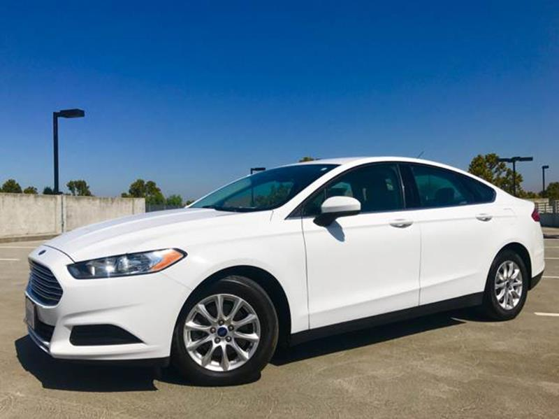 2015 FORD FUSION S 4DR SEDAN white 2-stage unlocking doors abs - 4-wheel air filtration airbag