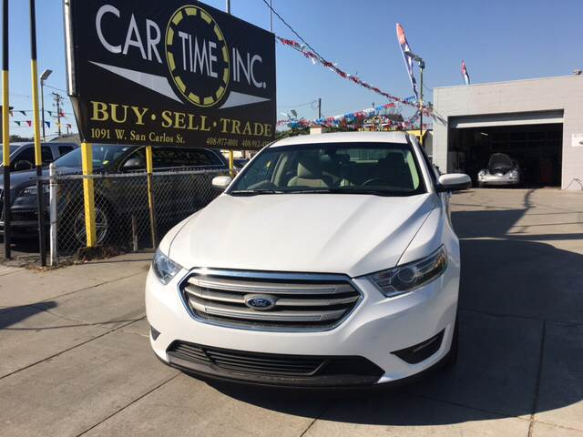 2016 FORD TAURUS SEL AWD 4DR SEDAN white 20 inch 10-spoke wheels 2-stage unlocking doors 4wd ty