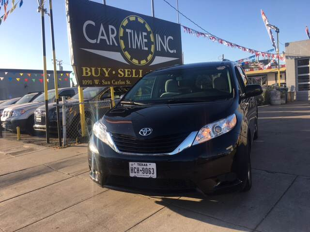 2016 TOYOTA SIENNA LE 8 PASSENGER 4DR MINI VAN black 2-stage unlocking doors abs - 4-wheel acti