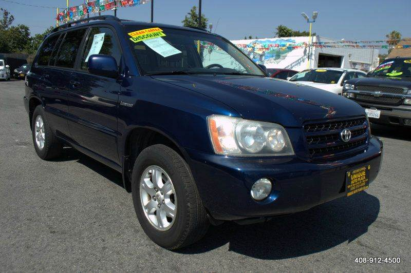 2003 TOYOTA HIGHLANDER LIMITED 4DR SUV blue abs - 4-wheel anti-theft system - alarm campertowi