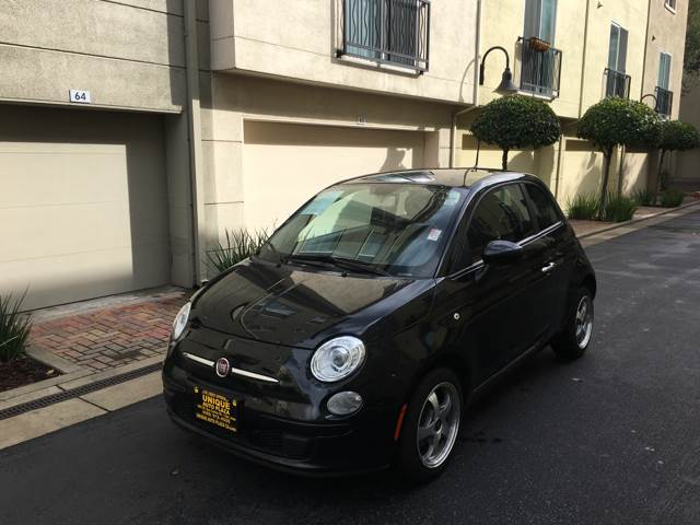 2012 FIAT 500 POP 2DR HATCHBACK black abs - 4-wheel active head restraints - dual front air fil