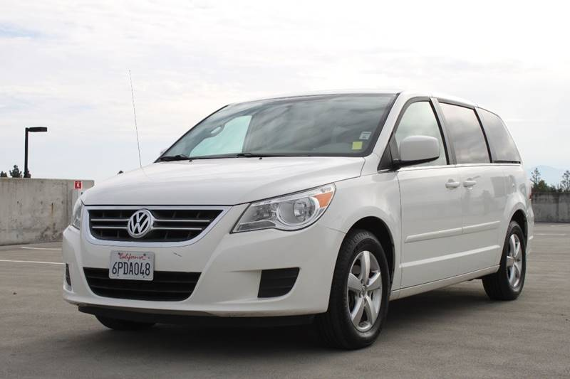 2010 VOLKSWAGEN ROUTAN SE 4DR MINI VAN white 2-stage unlocking doors abs - 4-wheel active head