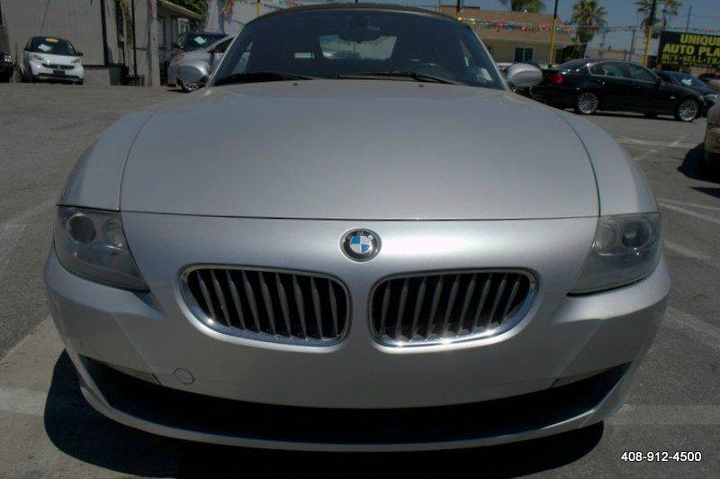 2007 BMW Z4 30SI 2DR CONVERTIBLE silver hardtop preparation metallic paint retractable headlig
