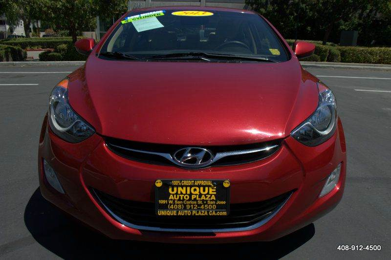 2013 HYUNDAI ELANTRA GLS 4DR SEDAN red 2-stage unlocking doors abs - 4-wheel active head restra