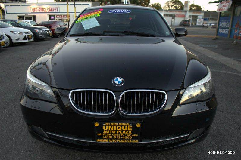 2009 BMW 5 SERIES 535I 4DR SEDAN black active cruise control active head restraints - dual front