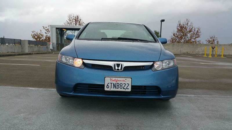 2007 HONDA CIVIC LX 4DR SEDAN 18L I4 5A blue salvage title 2-stage unlocking doors abs - 4-wh