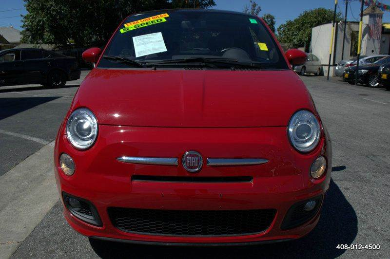 2012 FIAT 500 SPORT 2DR HATCHBACK red abs - 4-wheel active head restraints - dual front additio