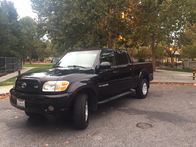 2004 TOYOTA TUNDRA LIMITED 4DR DOUBLE CAB RWD SB V8 black abs - 4-wheel anti-theft system - alar