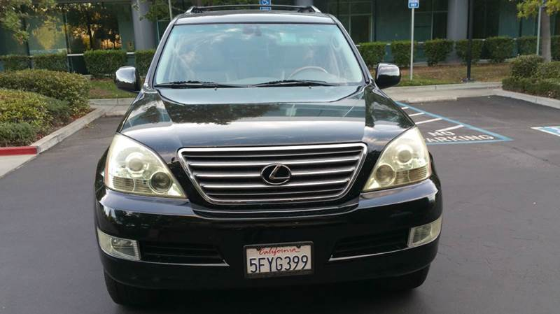 2004 LEXUS GX 470 BASE 4WD 4DR SUV black 4wd type - full time abs - 4-wheel air suspension - re