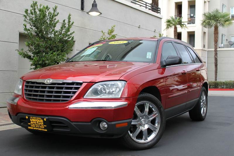 2005 CHRYSLER PACIFICA TOURING AWD 4DR WAGON red 19 inch wheels abs - 4-wheel adjustable pedals