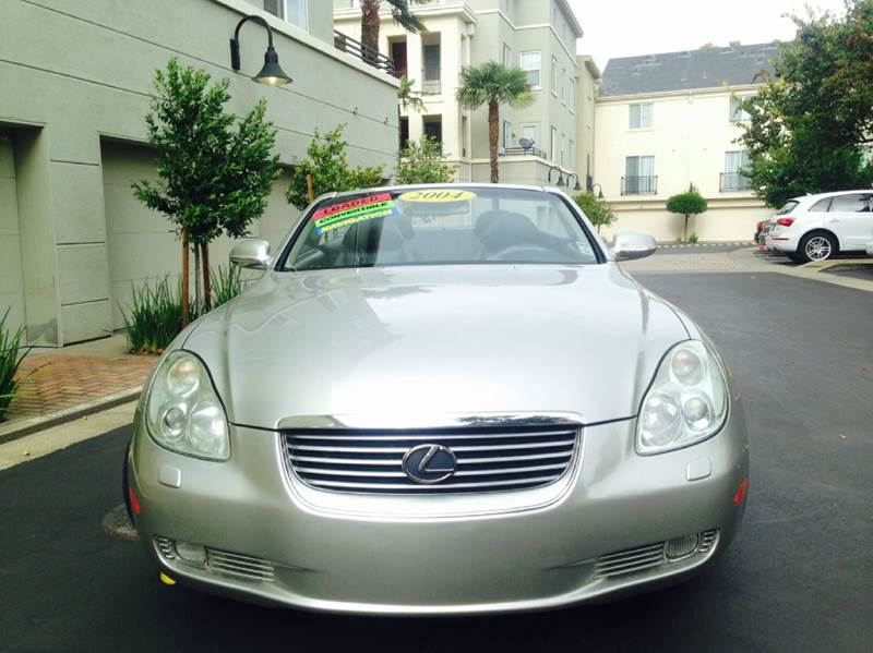 2004 LEXUS SC 430 BASE 2DR CONVERTIBLE silver rear spoiler front air conditioning front air con