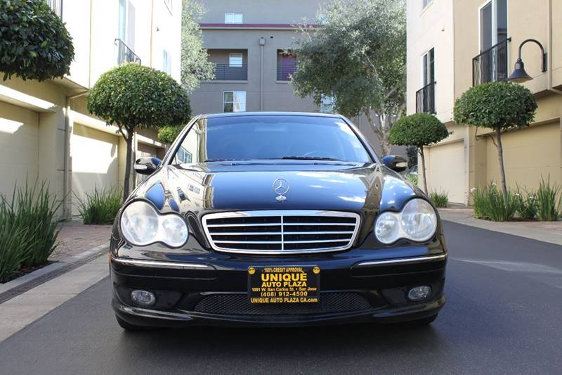 2006 MERCEDES-BENZ C-CLASS C 230 SPORT 4DR SEDAN black 5-speed manual transmission 5th wheel hit