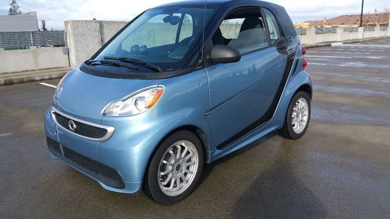 2014 SMART FORTWO PASSION ELECTRIC DRIVE 2DR HATCH blue door handle color - black front bumper c
