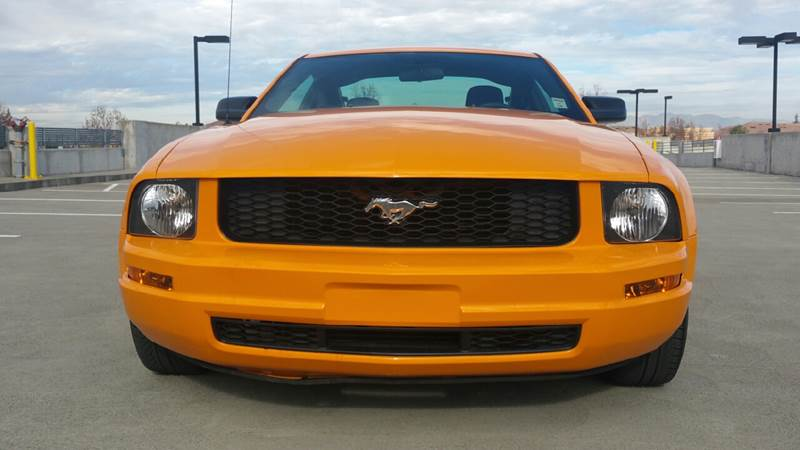 2009 FORD MUSTANG V6 DELUXE 2DR COUPE orange exhaust tip color - stainless-steel floor mat mater
