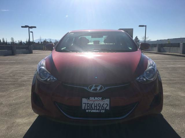 2013 HYUNDAI ELANTRA GLS 4DR SEDAN burgundy 2-stage unlocking doors abs - 4-wheel active head r