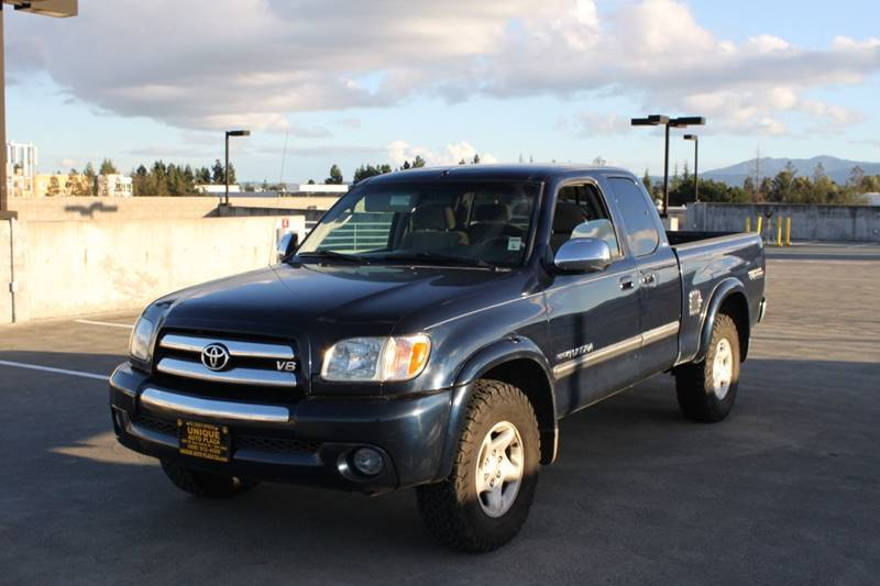 2003 TOYOTA TUNDRA SR5 4DR ACCESS CAB 4WD SB V8 blue abs - 4-wheel axle ratio - 391 center con
