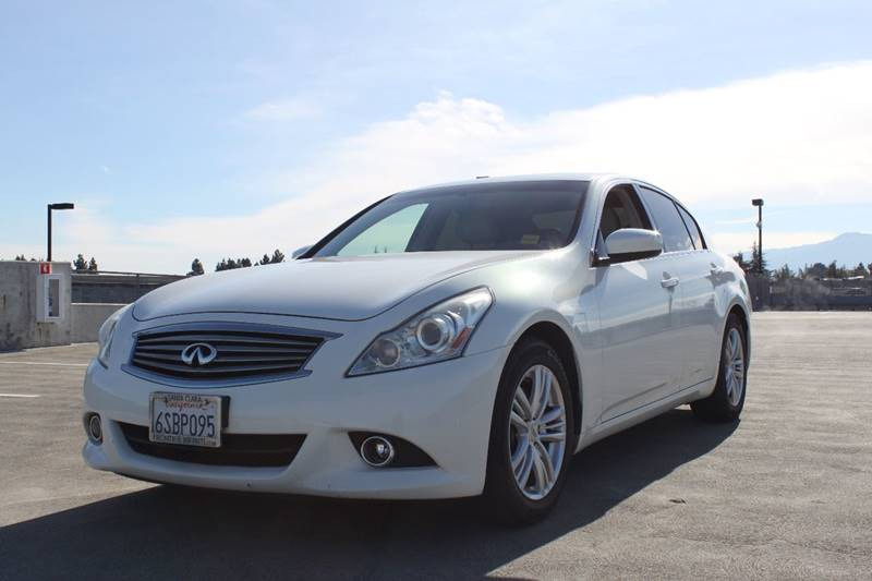 2011 INFINITI G37 SEDAN SPORT APPEARANCE EDITION 4DR SED white exhaust - dual tip door handle col