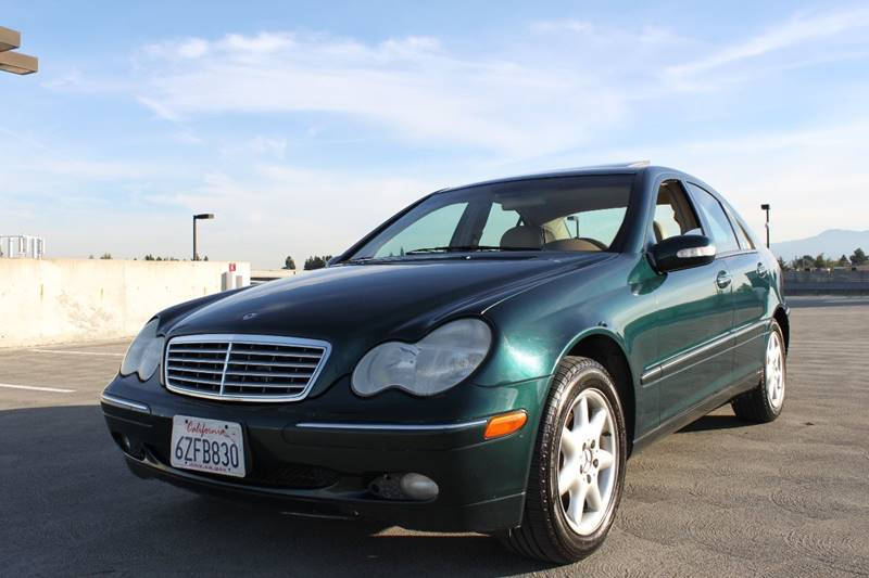 2003 MERCEDES-BENZ C-CLASS C 240 4DR SEDAN green abs - 4-wheel anti-theft system - alarm casset