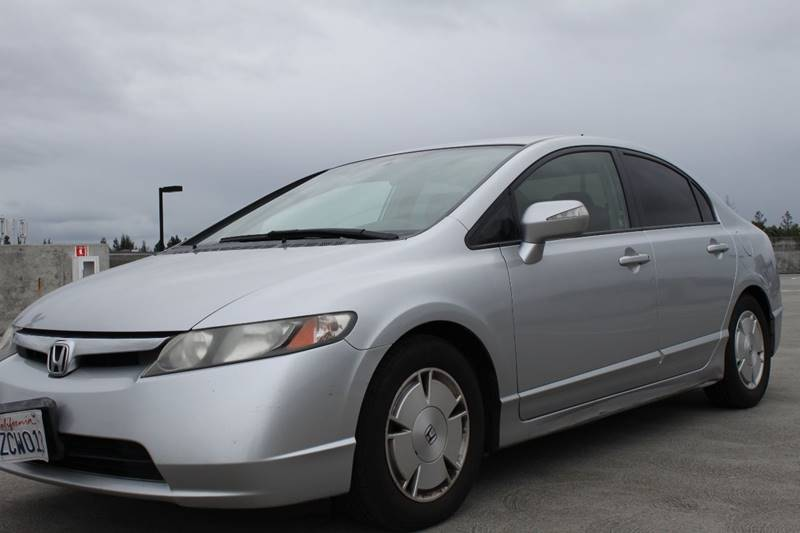 2007 HONDA CIVIC HYBRID WNAVI 4DR SEDAN WNAVI silver 2-stage unlocking doors abs - 4-wheel ai
