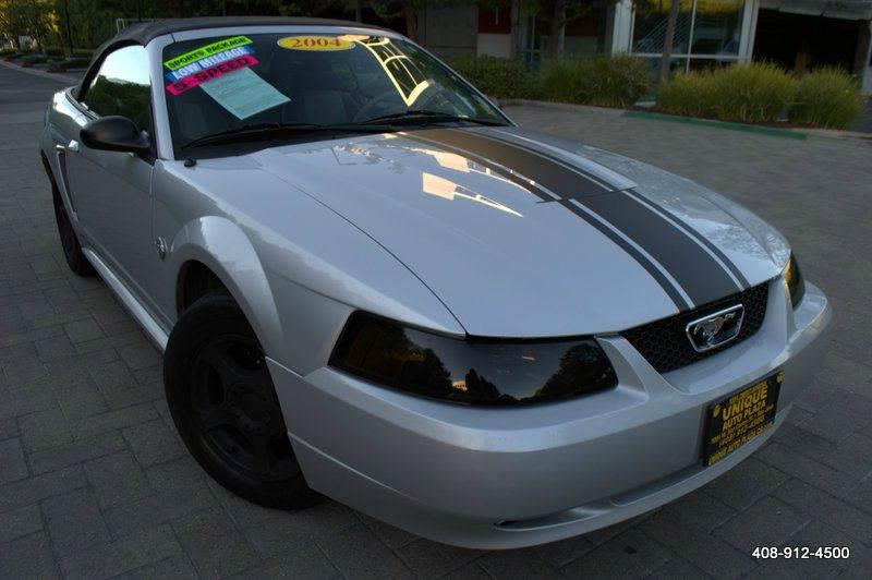 2004 FORD MUSTANG DELUXE 2DR CONVERTIBLE silver 4-speed automatic transmission 4-wheel abs amf