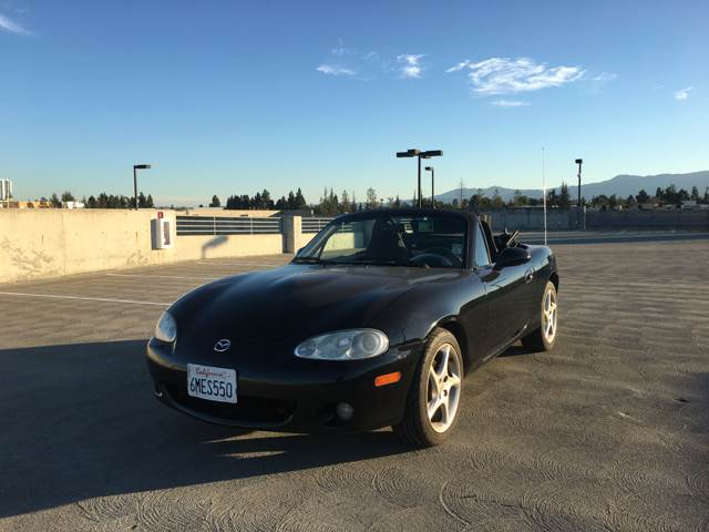2003 MAZDA MX-5 MIATA BASE 2DR ROADSTER black antenna type - power center console clock exteri