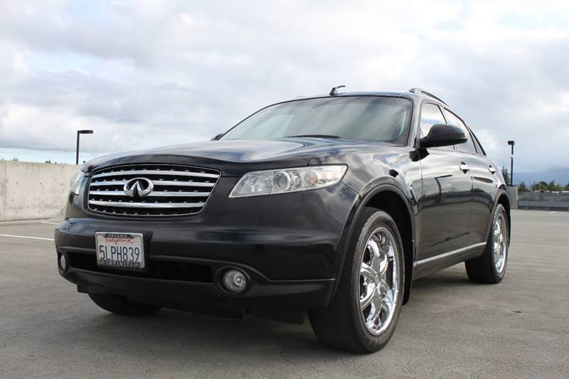 2004 INFINITI FX35 BASE AWD 4DR SUV black abs - 4-wheel anti-theft system - alarm axle ratio -