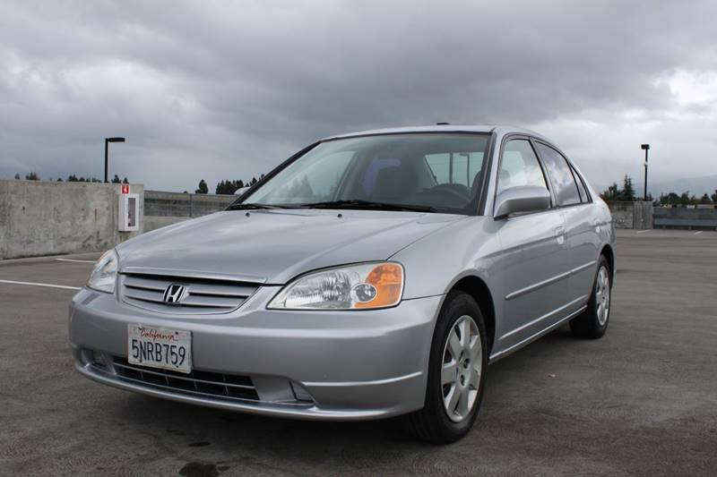 2002 HONDA CIVIC EX 4DR SEDAN silver abs - 4-wheel anti-theft system - alarm clock cruise cont