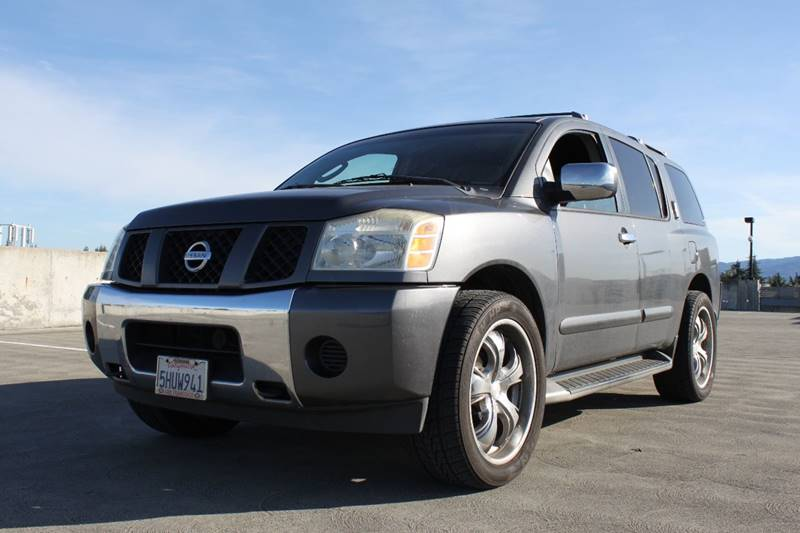 2004 NISSAN ARMADA SE OFF-ROAD 4WD 4DR SUV gray california suv 4x4 3rd row seating great family c