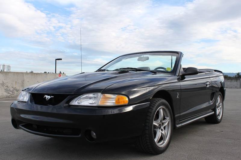 1998 FORD MUSTANG SVT COBRA BASE 2DR CONVERTIBLE black abs - 4-wheel anti-theft system - alarm