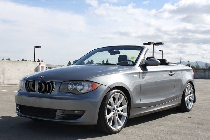 2009 BMW 1 SERIES 128I 2DR CONVERTIBLE SULEV gray exhaust - dual tip cargo tie downs metallic p