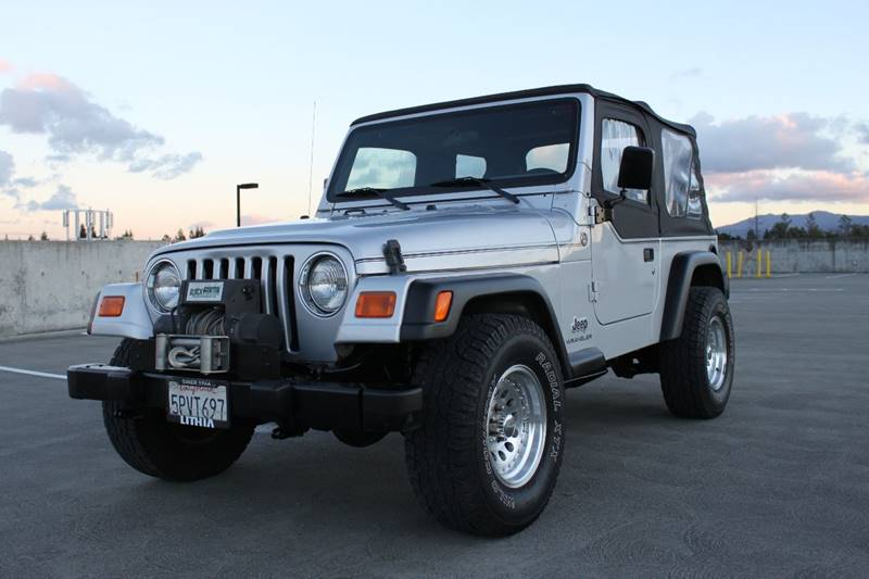 2005 JEEP WRANGLER SE 4WD 2DR SUV silver axle ratio - 373 center console - front console with s