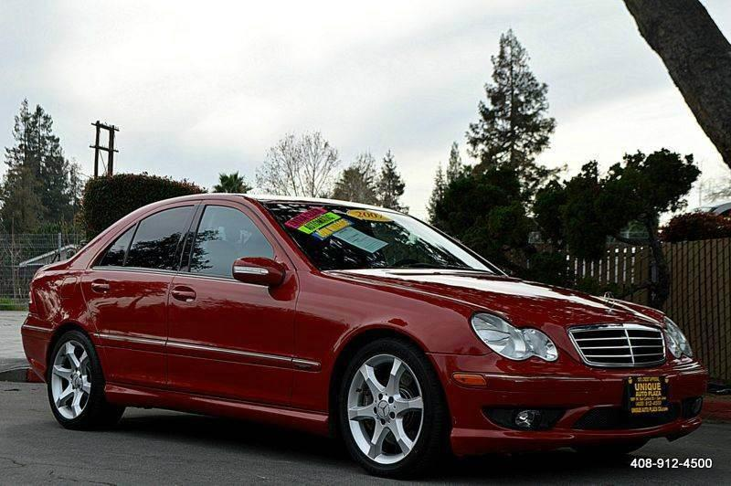 2007 MERCEDES-BENZ C-CLASS C230 SPORT 4DR SEDAN red 2-stage unlocking doors abs - 4-wheel activ