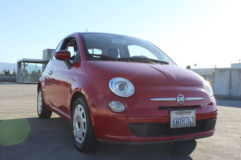 2012 FIAT 500 POP 2DR HATCHBACK red door handle color - chrome front bumper color - body-color