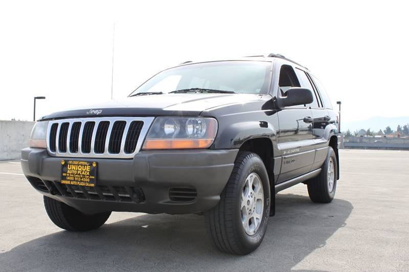2000 JEEP GRAND CHEROKEE LAREDO 4DR 4WD SUV black 373 axle ratio 47l v8 sohc 16v fi engine ab